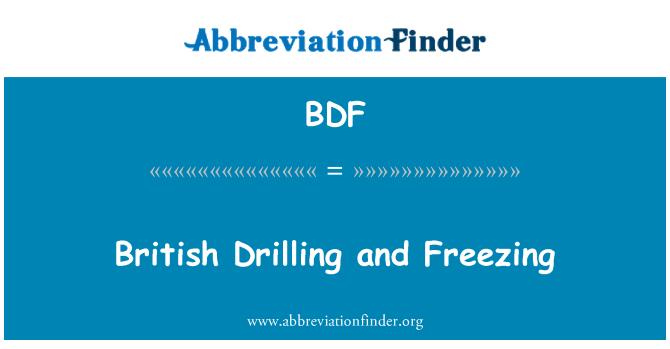 BDF: British Drilling and Freezing