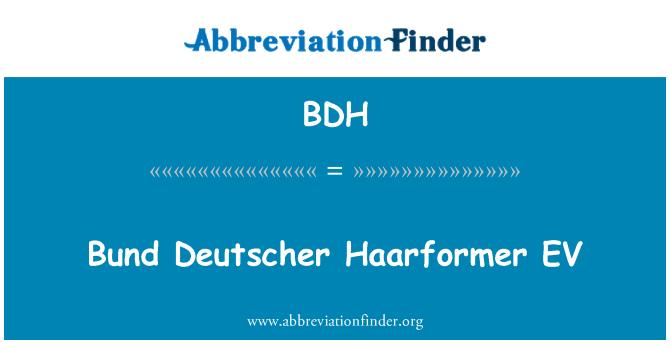 BDH: Bund Deutscher Haarformer EV