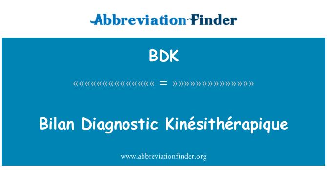 BDK: Bilan Diagnostic Kinésithérapique