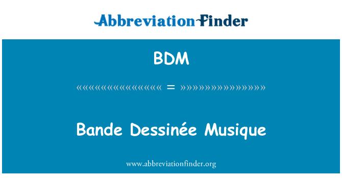 BDM: Bande Dessinée Musique