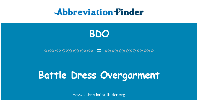 BDO: Battle Dress Overgarment