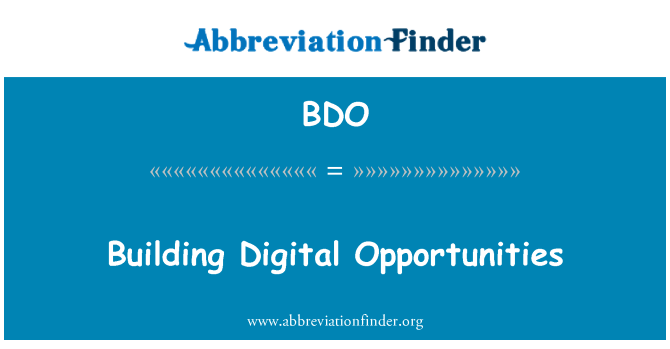 BDO: Building Digital Opportunities