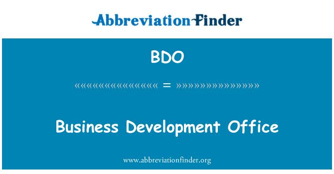 BDO: Business Development Office