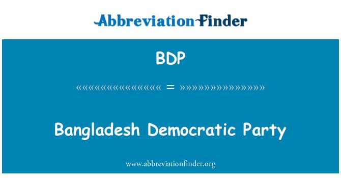 BDP: Bangladesh Democratic Party