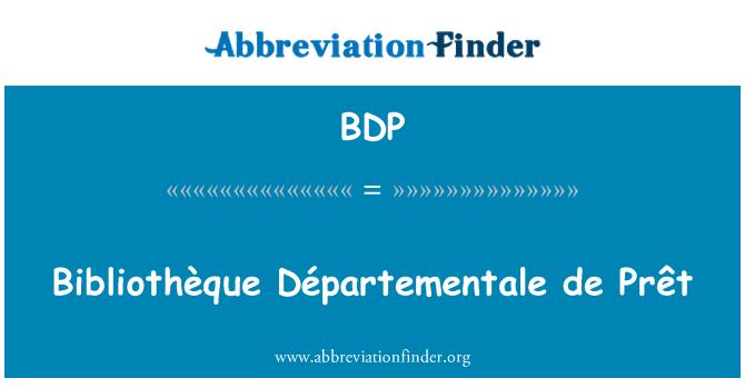 BDP: Bibliothèque Départementale de Prêt