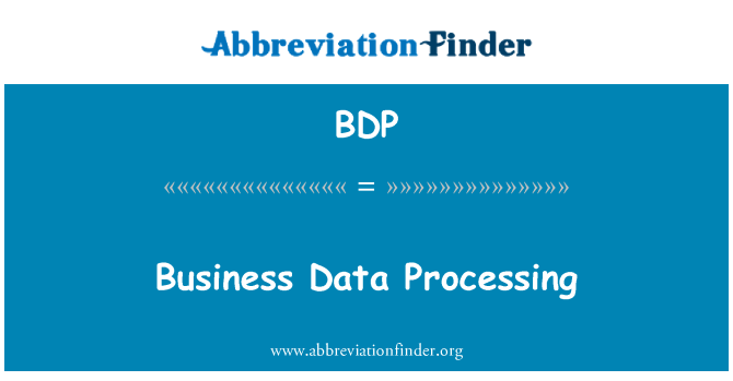 BDP: Business Data Processing
