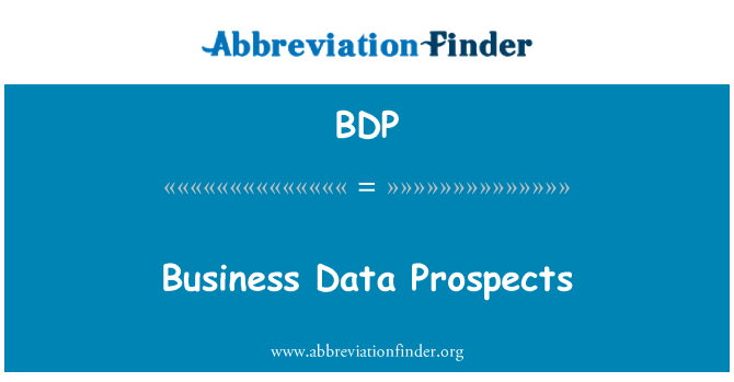 BDP: Business Data Prospects