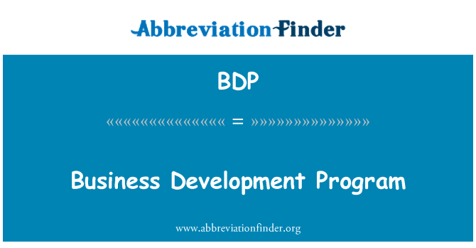 BDP: Business Development Program