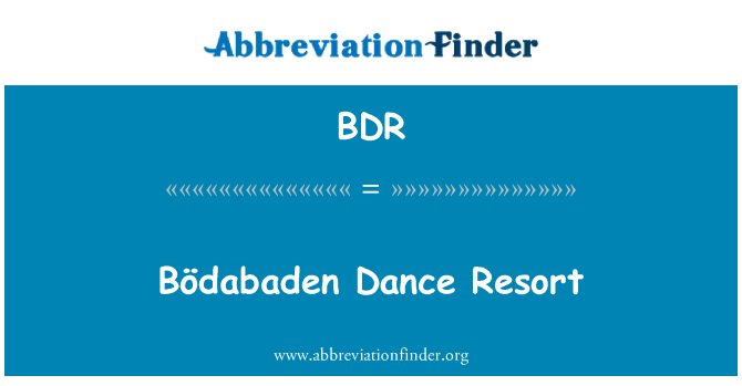BDR: Bödabaden Dance Resort