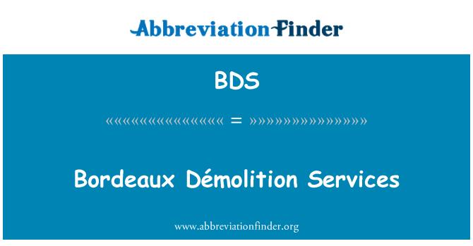 BDS: Bordeaux Démolition Services