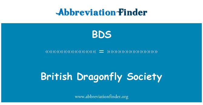 BDS: British Dragonfly Society