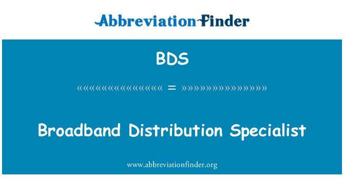 BDS: Broadband Distribution Specialist