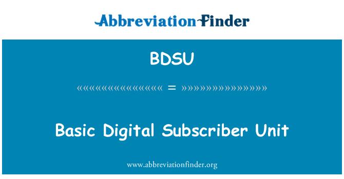 BDSU: Basic Digital Subscriber Unit
