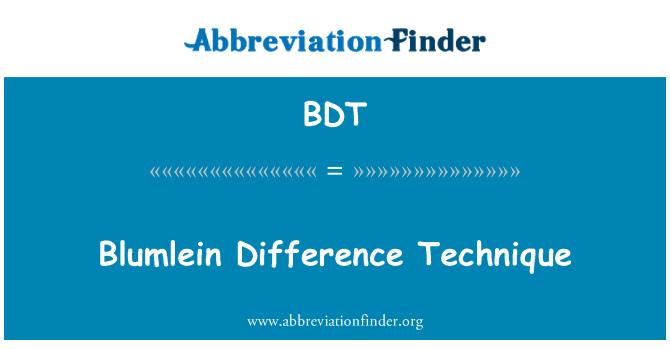 BDT: Blumlein Difference Technique