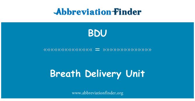 BDU: Breath Delivery Unit