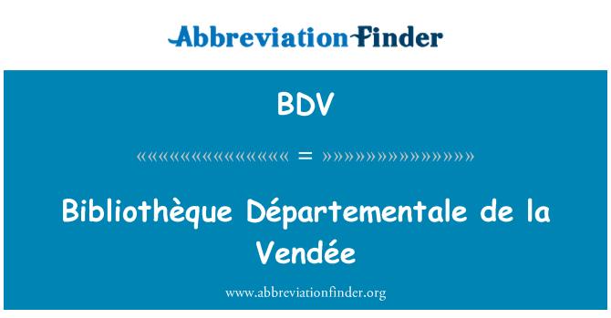 BDV: Bibliothèque Départementale de la Vendée