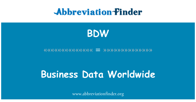 BDW: Business Data Worldwide