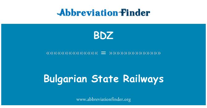 BDZ: Bulgarian State Railways