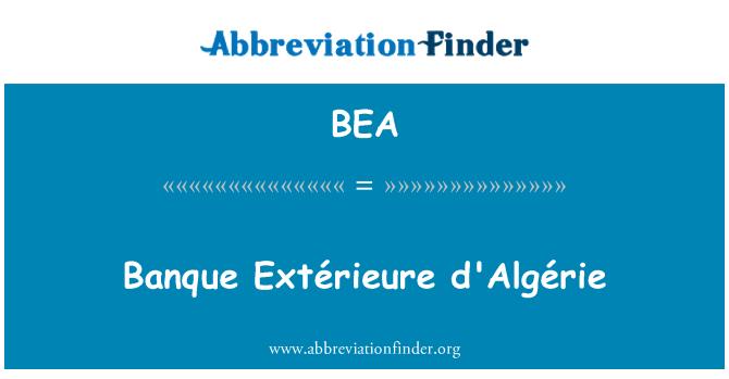 BEA: Banque Extérieure d'Algérie