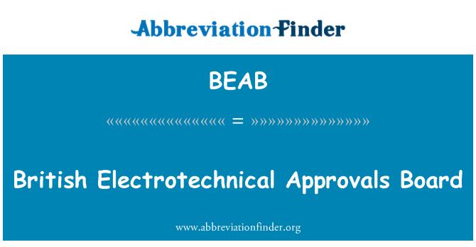 BEAB: İngiliz Elektroteknik onayları kurulu