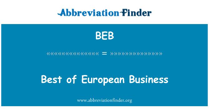 BEB: Best of European Business