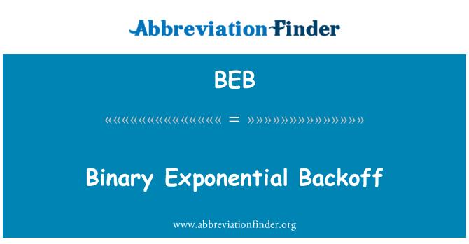 BEB: Binary Exponential Backoff