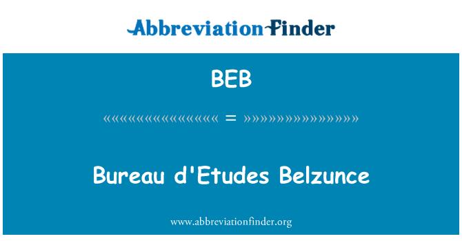 BEB: Bureau d'Etudes Belzunce