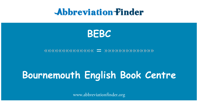 BEBC: Bournemouth English Book Centre