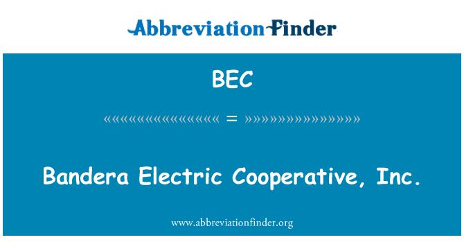 BEC: Bandera Electric Cooperative, Inc.