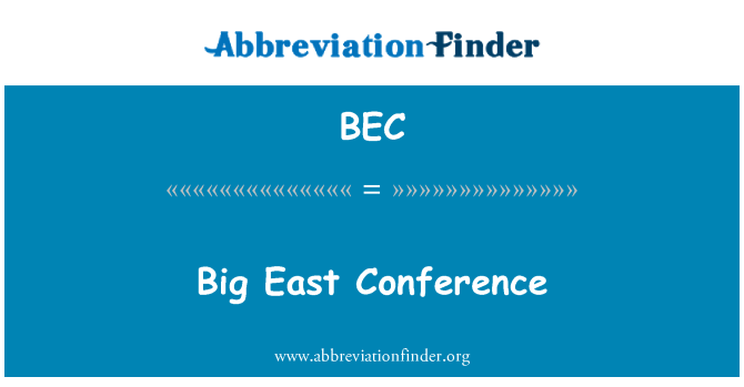 BEC: Big East Conference