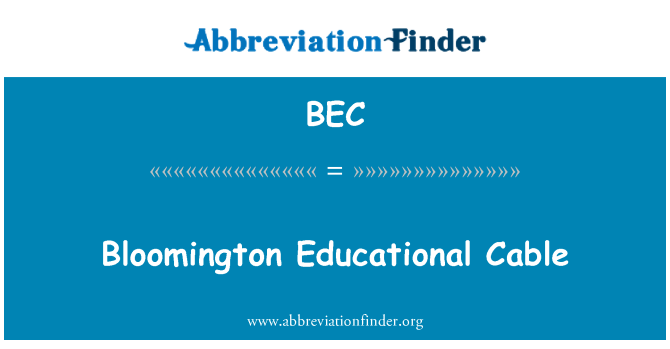 BEC: Bloomington Educational Cable