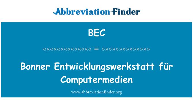 BEC: Bonner Entwicklungswerkstatt für Computermedien