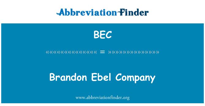BEC: Brandon Ebel Company
