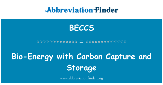 BECCS: Bio-Energy with Carbon Capture and Storage