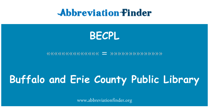 BECPL: Buffalo and Erie County Public Library