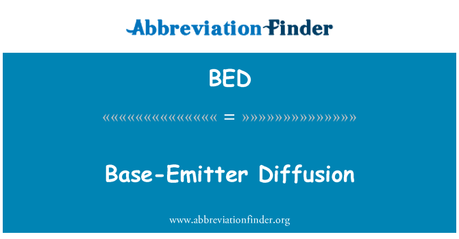BED: Base-Emitter Diffusion