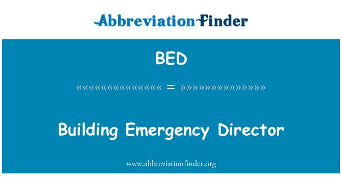 BED: Building Emergency Director