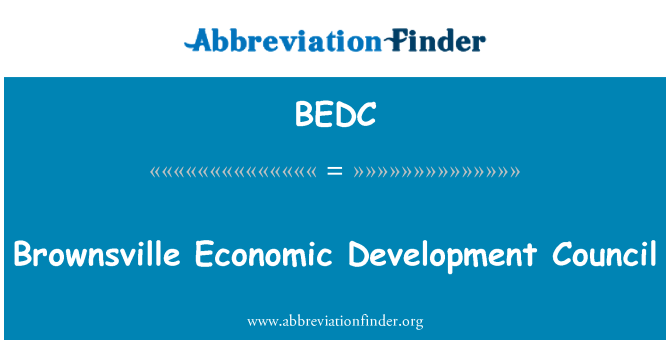 BEDC: Brownsville Economic Development Council