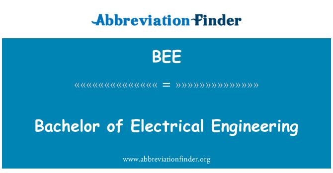 BEE: Licenciado en ingeniería eléctrica