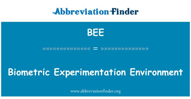 BEE: Biomeetriliste eksperimenteerimise keskkond