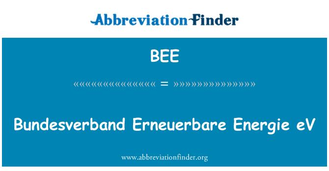 BEE: Bundesverband Erneuerbare Energie eV