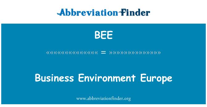BEE: Europa de medio ambiente de negocios