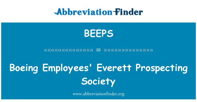 BEEPS: Boeing Employees' Everett Prospecting Society