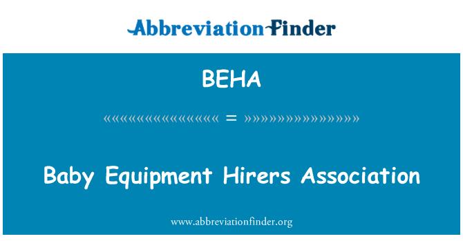 BEHA: Dětské vybavení půjčoven asociace