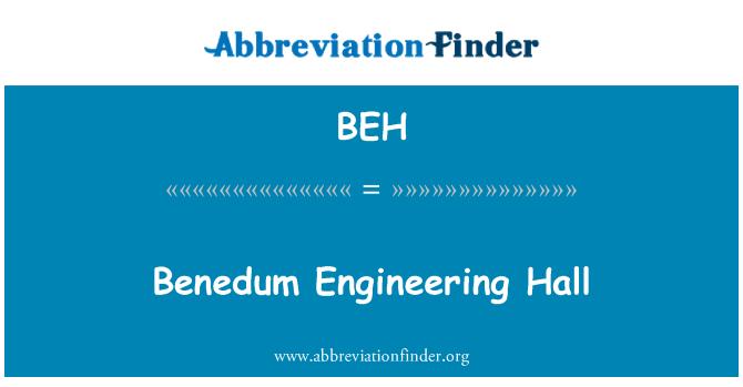 BEH: Benedum Engineering Hall