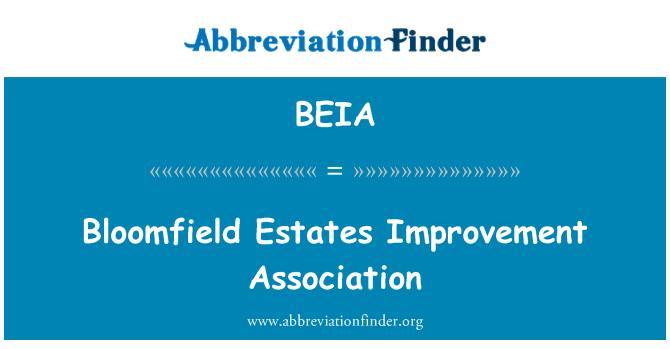 BEIA: Bloomfield Estates Improvement Association