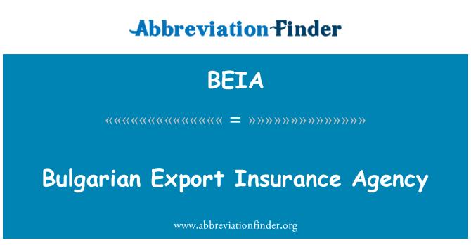 BEIA: Bulgarian Export Insurance Agency