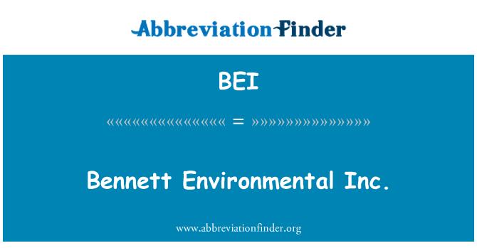 BEI: Bennett Environmental Inc.