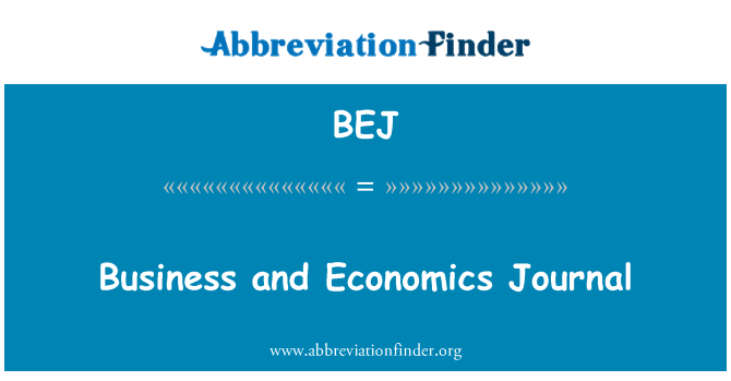 BEJ: Business and Economics Journal