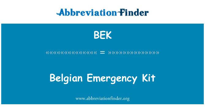BEK: Belgian Emergency Kit